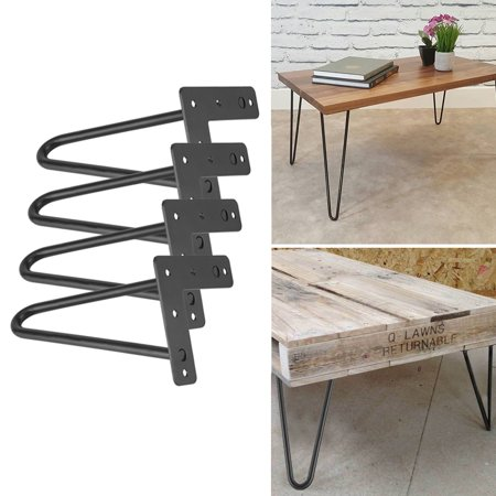 Black Hairpin Legs,Set for 4 Heavy Duty Table Legs Home Accessories for DIY Handcrafts Furniture ()