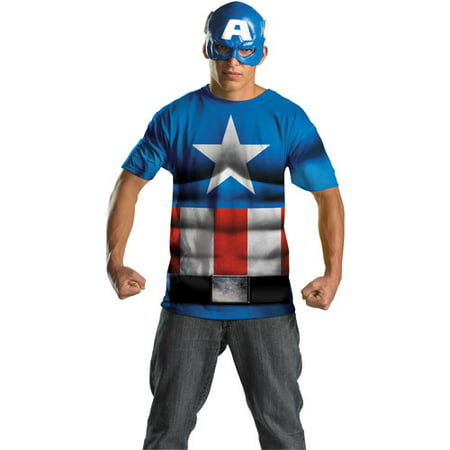 Captain America No Scar Alternative Adult Halloween Costume (Tool No Quarter Halloween)