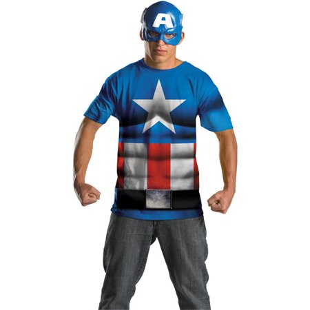 Captain America No Scar Alternative Adult Halloween Costume - Captain America Costume Mens