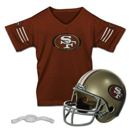 - Franklin Sports NFL San Francisco 49ers Team Licensed Helmet Jersey Set