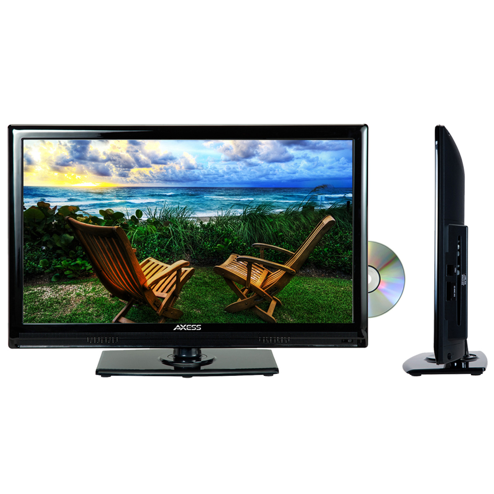 """Axess 19"""" LED TV With DVD"""