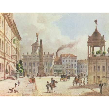 Framed Art for Your Wall Klose, Friedrich Wilhelm - Potsdam, Alter Markt with town hall of the castle road 10 x 13 Frame (Parts Altered Art)