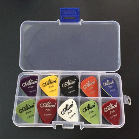 40pcs/set Guitar Picks for Acoustic Electric Bass Plectrum Mediator Musical Instrument Mix of Size Acoustic Bass Guitar Picks