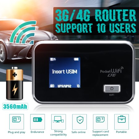 Portable Router 4G/3G Wifi Wireless Router Mobile Broadband Hotspot SIM Card Slot
