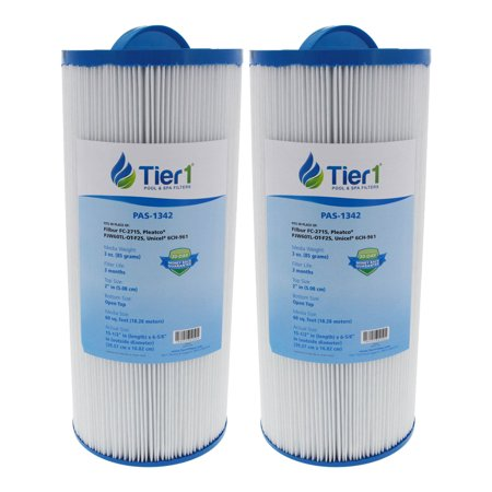 Tier1 Replacement for Jacuzzi J300 6541-383 Spa Filter for J300 Series Jacuzzis, 2 Pack (Jacuzzi Eyeball)