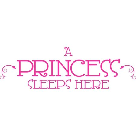 Do It Yourself Wall Decal Sticker A Princess Sleeps Here 8