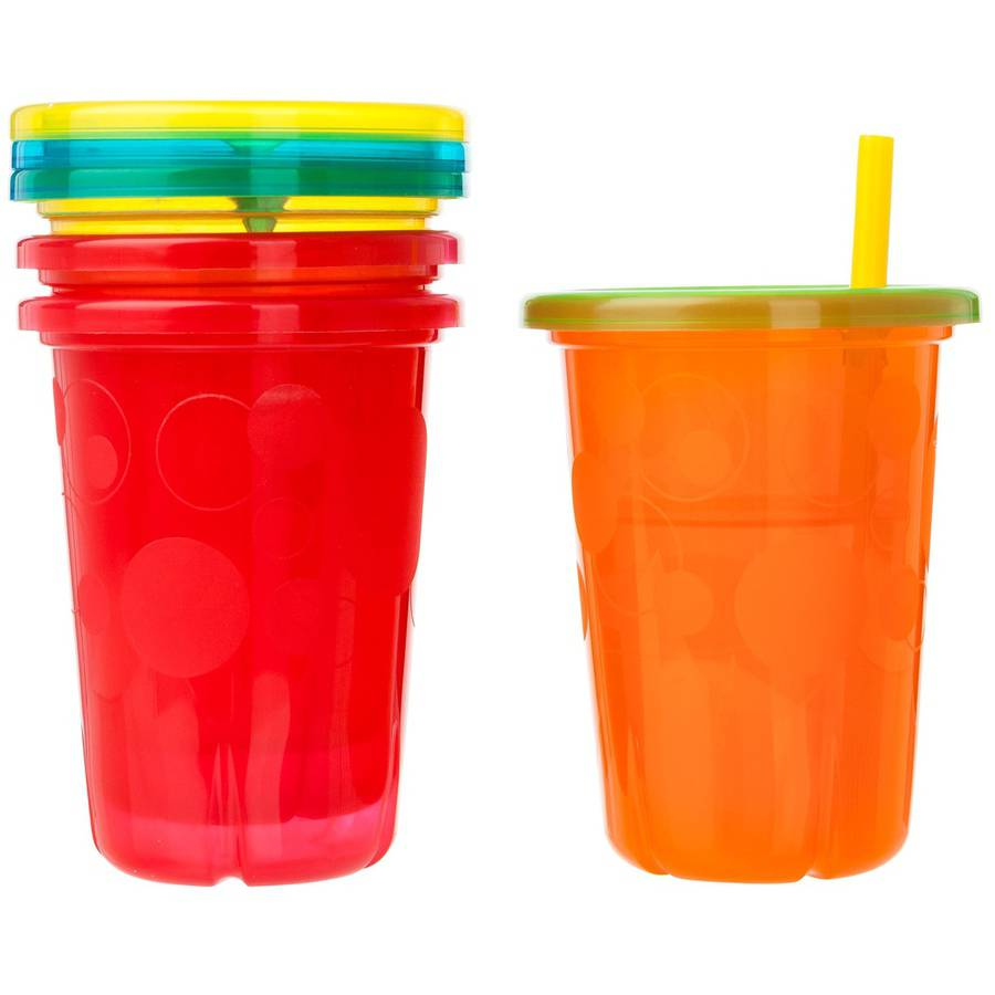 The First Years Take & Toss Spill-Proof Straw Cups, BPA-Free - 10oz, 4 pack