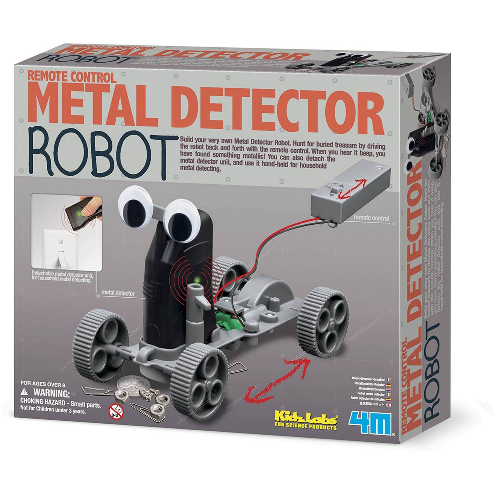 4M Kids Labs Remote Control Metal Detector Robot Kit by 4M