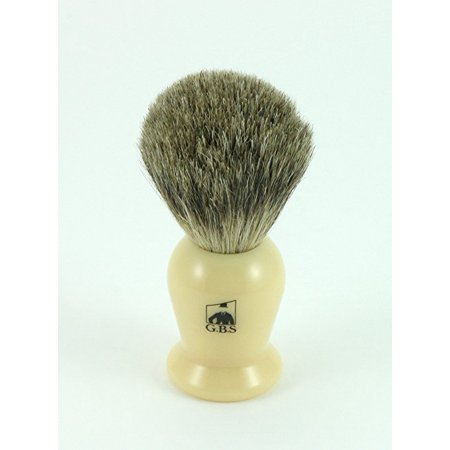GBS 100% Pure Badger Bristle Shaving Brush Ivory