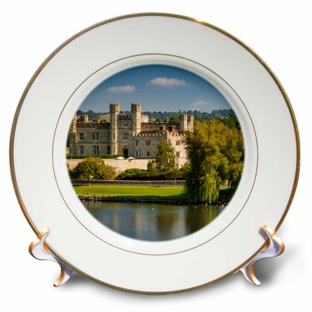 Early Porcelain - 3dRose Early morning at Leeds Castle, Maidstone, Kent, England - Porcelain Plate, 8-inch