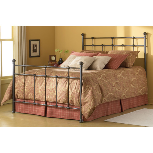 Dexter Hammered Brown Bed-Bed Size:Full