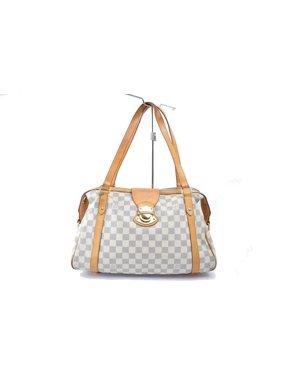d31ec69ef3d0 Product Image Stresa Damier Azur 868873 White Coated Canvas Tote. Louis  Vuitton