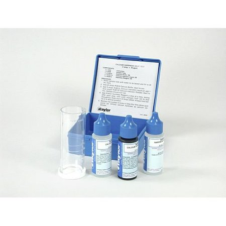 K-1770 TEST KIT CALCIUM HARDNESS,  1 drop = 10 ppm calcium EDTA titration (includes inhibitors to prevent metal interference) By TAYLOR TECHNOLOGIES INC