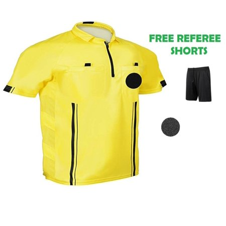 1 Stop Soccer Pro Referee Soccer Jersey Short Sleeves Free Referee (Long Sleeve Soccer Referee Jersey)