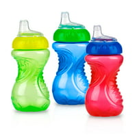 Nuby Easy Grip Soft Spout Sippy Cup , 10oz, 3 pack