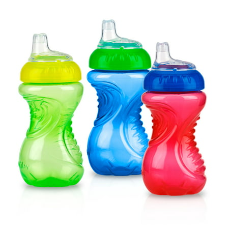 Nuby Easy Grip Soft Spout Sippy Cup - 3 pack (Best Beginner Sippy Cup 2019)