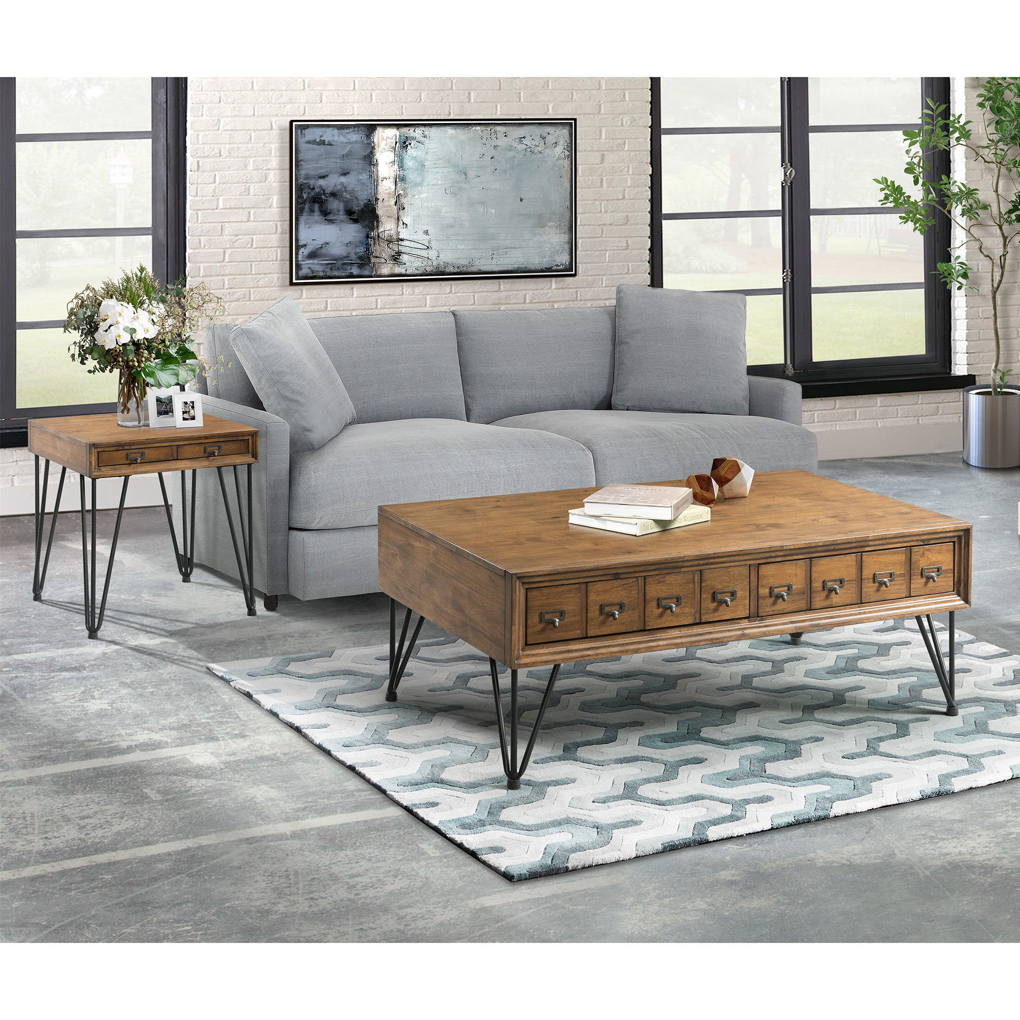 Picket House Furnishings Tanner 2PC Occasional Table Set-Coffee Table and End Table