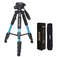 "ZOMEI 55"" Compact Light Weight Travel Portable Folding SLR Camera Tripod for Canon Nikon Sony DSLR Camera Video with Carry Case(Red)"