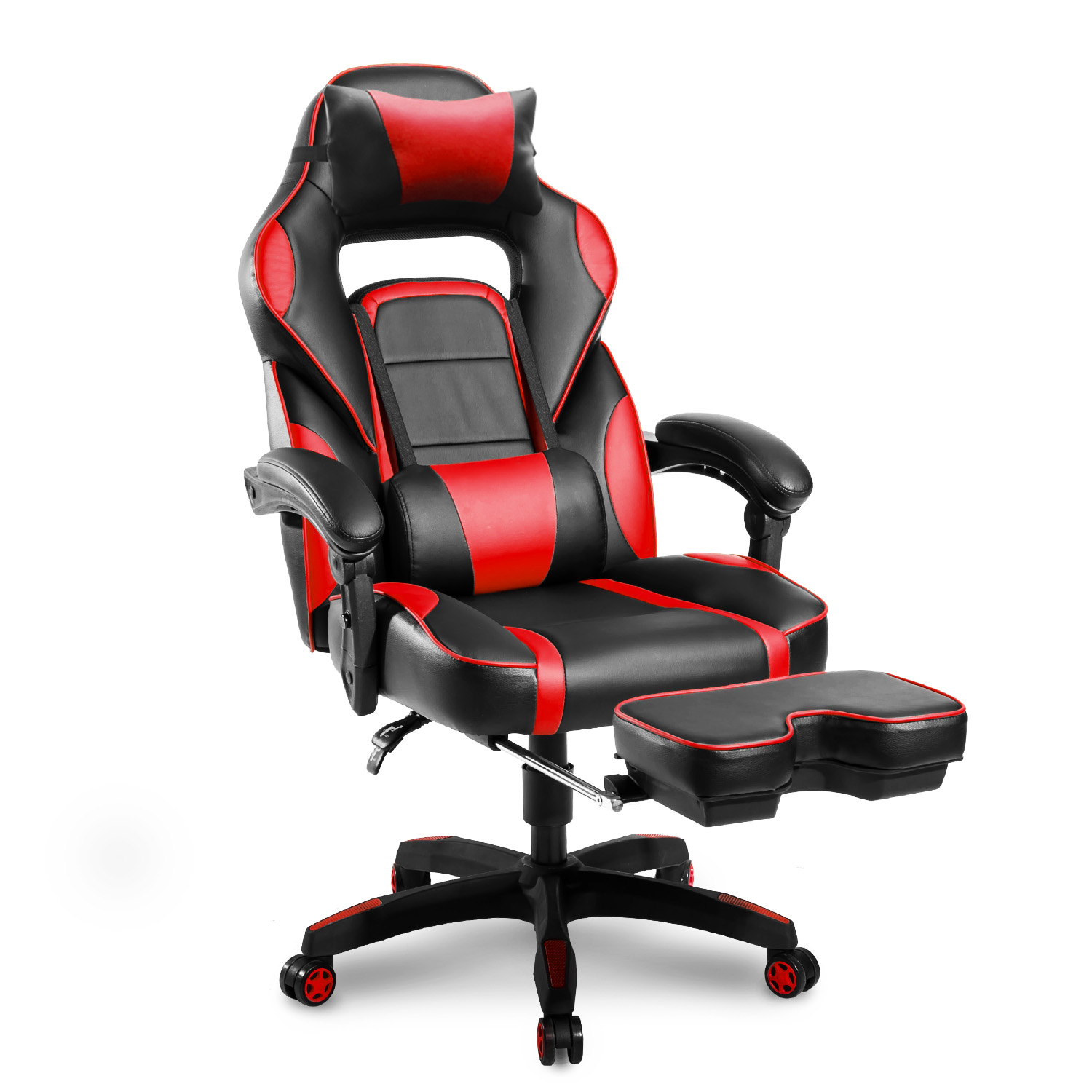 Gaming Chair With Footrest For Kids, Ergonomic Computer Chair With Arms,  Large Size PU Leather Swivel Desk Office Chair With Lumbar Support, 90 175  ...