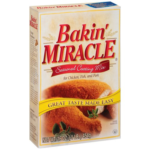 Bakin??? Miracle Seasoned Coating Mix for Chicken, Fish, and Pork, 16 oz