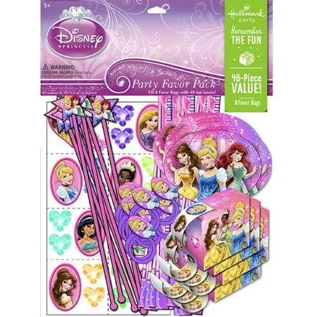 Party Favors - Disney's Princess - Value Pack - 48pc Set (Princess Party Pack)