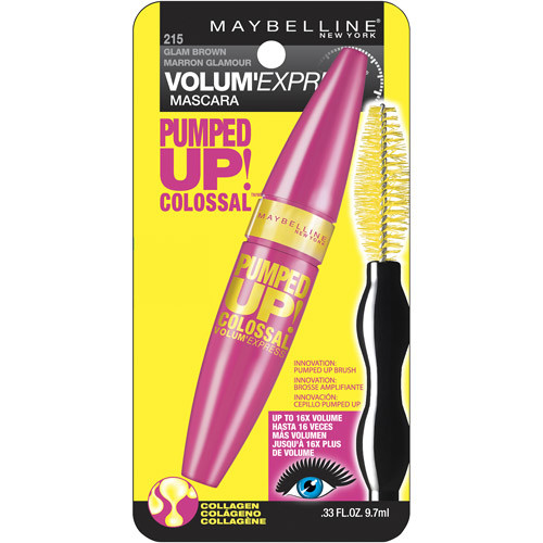Maybelline New York Volum' Express Pumped Up! Colossal Washable Mascara, Glam Black, 0.33 Fl Oz