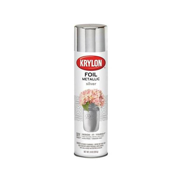 Krylon Premium 8 Oz Foil Metallic Spray Paint Silver Walmart Com Walmart Com