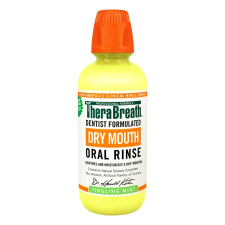 Therabreath Tingling Mint Dry Mouth Rinse, 16OZ