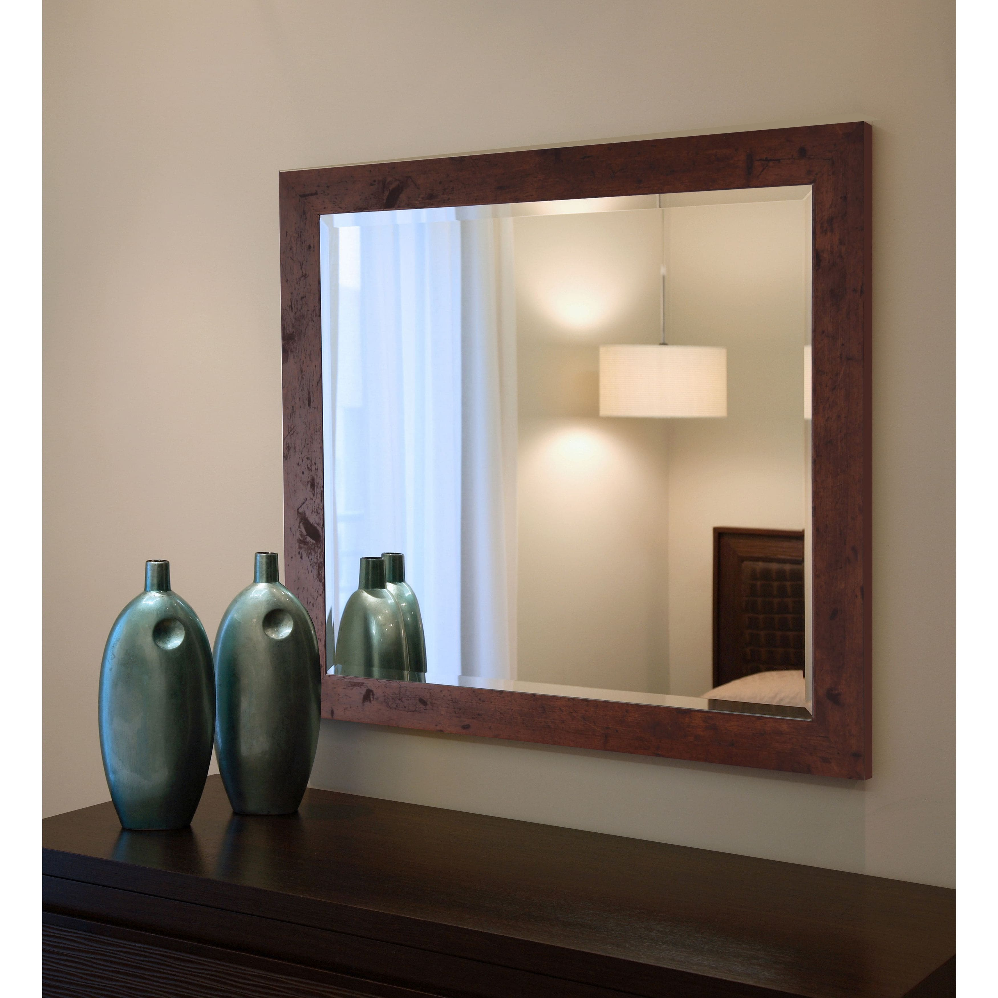 Rayne Mirrors American Made Rayne Rustic Dark Walnut Wall/ Vanity Mirror - Dark Walnut