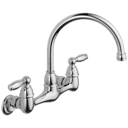 Peerless Claymore Two Handle Wall-Mount Kitchen Faucet in Chrome P299305LF