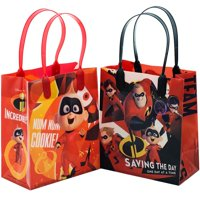 "12PCS- 6"" Disney Incredibles Party Favor Goodie Gift Birthday Loot Bags Small 2"