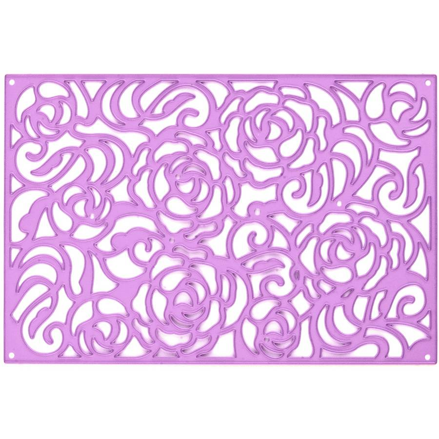 Prima Marketing Purple Metal Die, Rose Wall