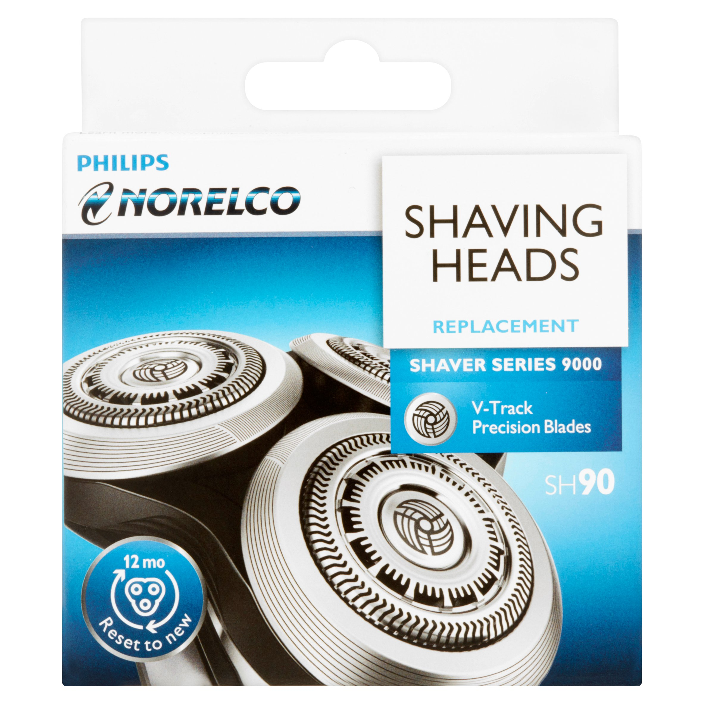 Philips Norelco SH90/52 Shaver 9000 Replacement Shaving Heads, 3 count