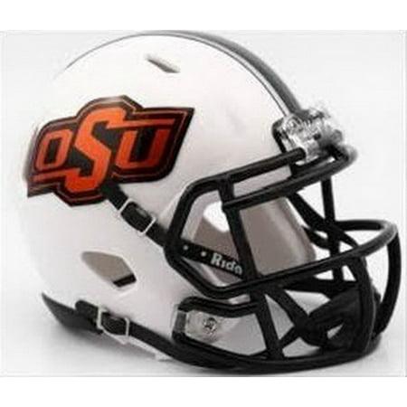 Oklahoma State Cowboys Helmet - Riddell Replica Mini - Speed Style - 2016 White