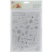 Papermania Folk Floral Clear Stamps A5-b
