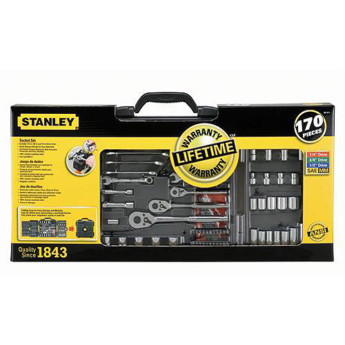 Stanley 170-Piece Mechanics Tool Set, 96-011