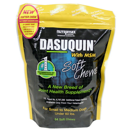 Nutramax Dasuquin with MSM Joint Health Supplement for Small & Medium Dogs, 84 Soft