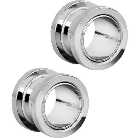 ad5051a0f73ce 1.2mm - 16mm Surgical Steel Ear Gauges Screw Fit Tunnels, Tunnel Plug  Earrings Sold as a Pair