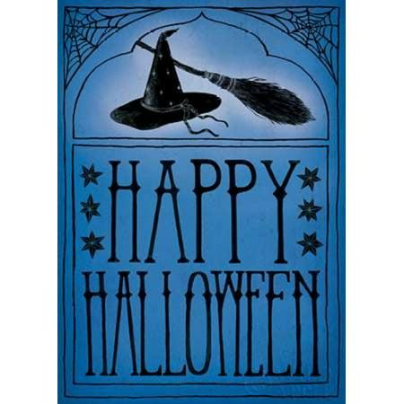 Vintage Halloween Happy Halloween Poster Print by Sara Zieve Miller