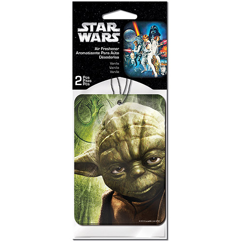 Plasticolor Star Wars Yoda Air Fresheners, 2-Pack