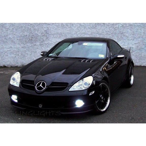 New 2004 2005 2006 2007 Mercedes-Benz R171 SLK 55 AMG LED Foglamps Fog Lamps Driving Lights Kit SLK55