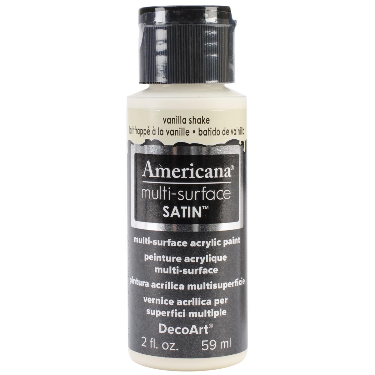 Americana Multi-Surface Satin Acrylic Paint 2oz-Vanilla Shake