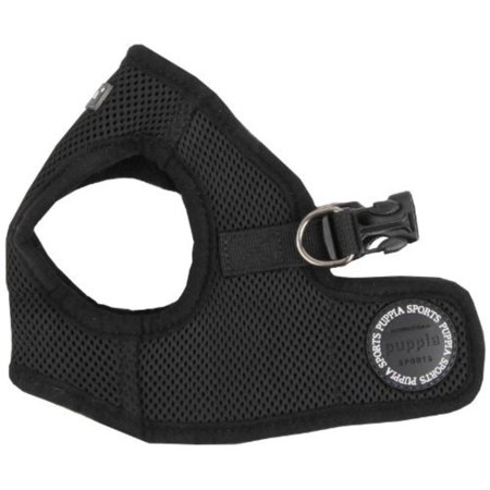 Puppia Soft Vest - Soft Vest Dog Harness - Black - Medium, Material : Polyester 100% By Puppia