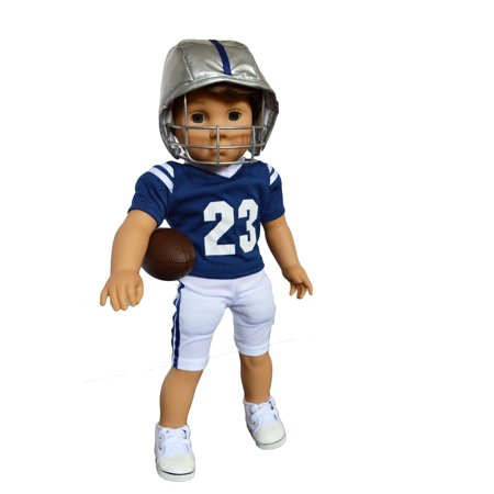 My Brittany's Blue and White Football Outfit for American Girl Boy Dolls and My Life as Dolls- 18 Inch  Doll (Boy Doll Outfit)
