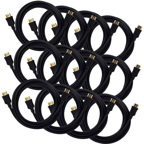 QualGear High Speed HDMI 2.0 Cable, 4Kx2K, 3D, Ethernet, Audio Return Channel, 10'