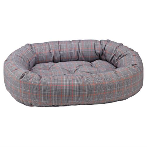 Donut Bed in Polo Plaid Fabric (SML)