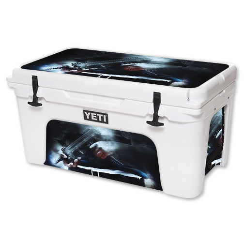 MightySkins Protective Vinyl Skin Decal for YETI Tundra 65 qt Cooler wrap cover sticker skins Uzi Friendly