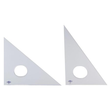 """Image of 10"""" Fluorescent Professional Acrylic Triangle 30 °/60 °"""