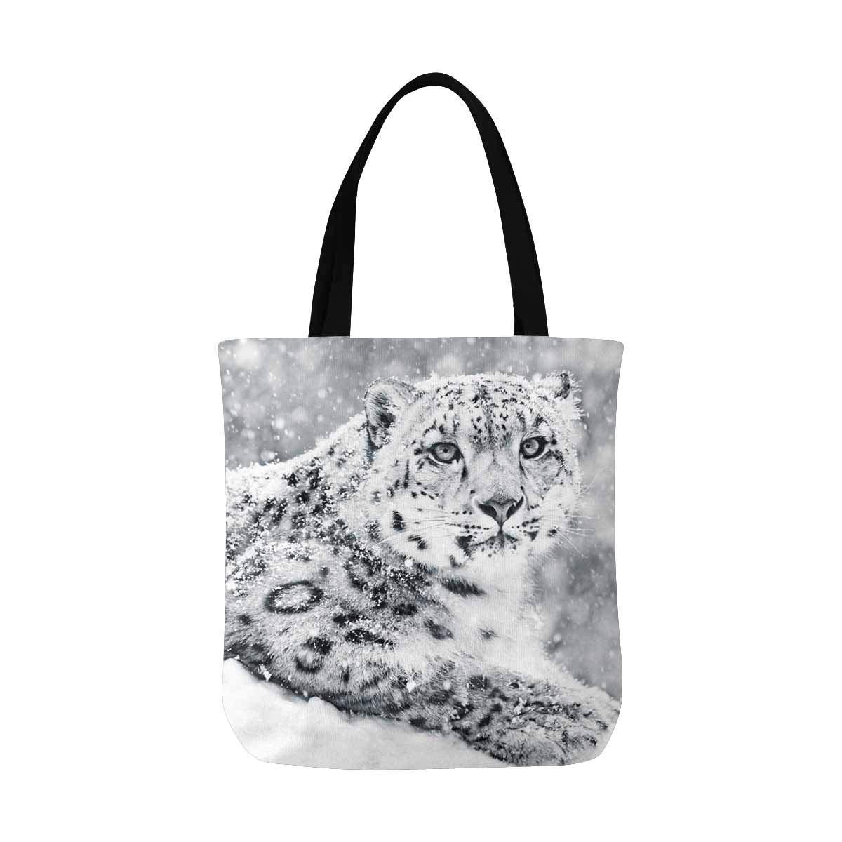 Ashleigh Snow Leopard In Snow Storm Cool Canvas Reusable