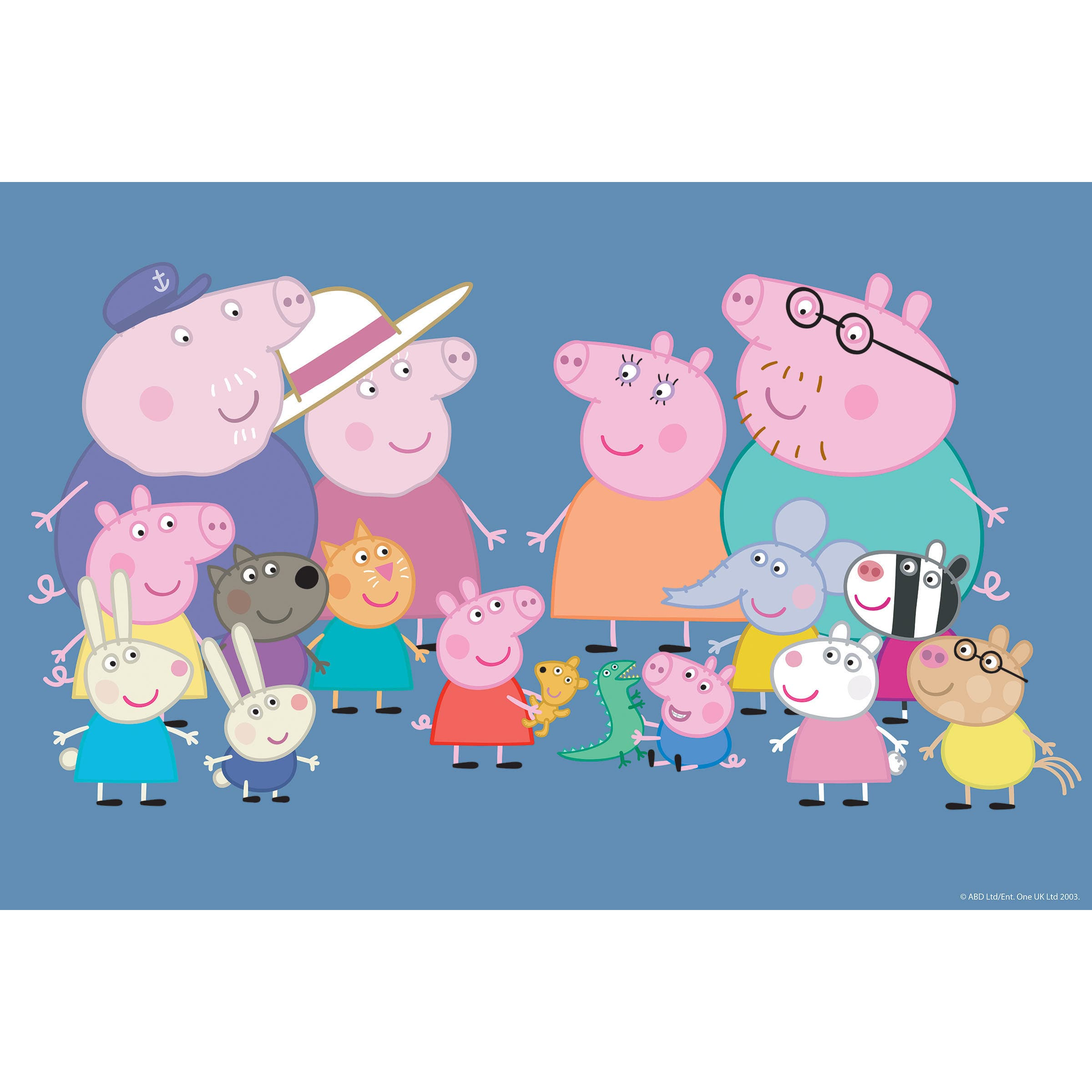 Marmont Hill Friends Family Ii Peppa Pig Painting Print On Canvas Walmart Com Walmart Com